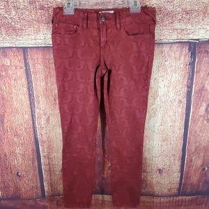 Free People Textured Skinny Jeans
